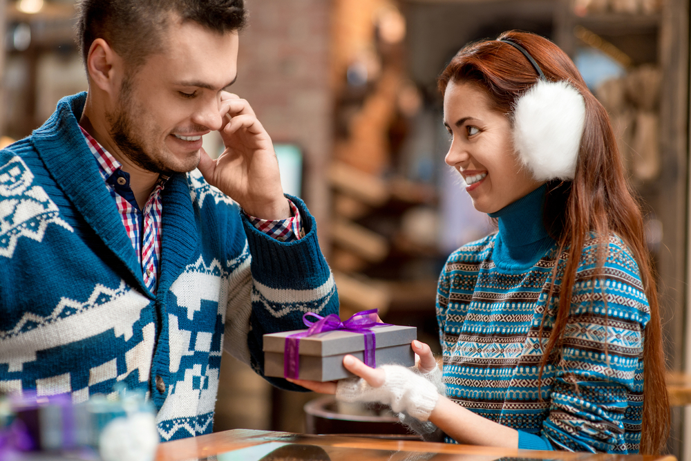 The season to share gifts and presents